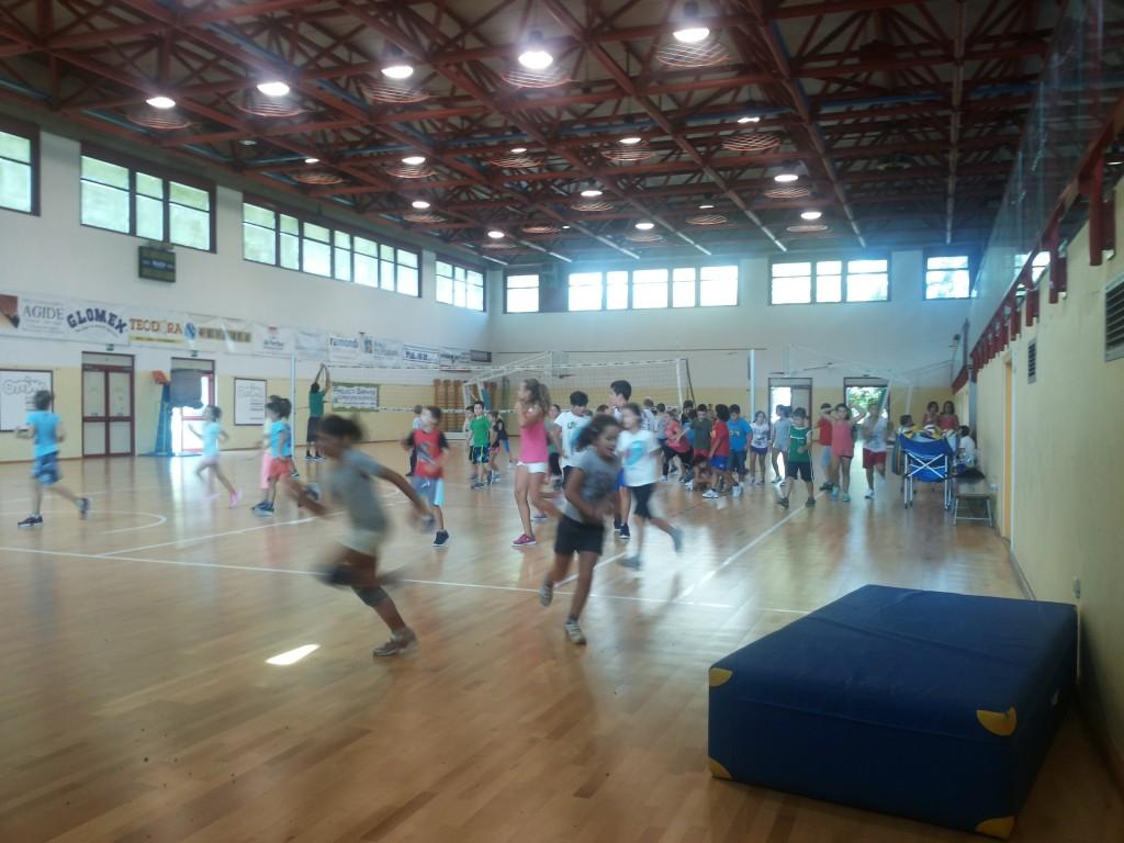 immagine della 2^ settimana di camp, palestra Mattioli.