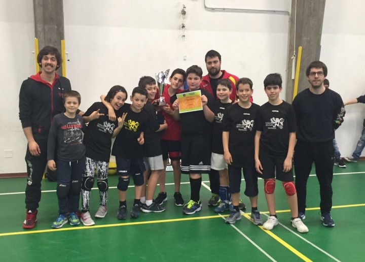 Torneo dodgeball di Forlì - 24 Aprile 2016. Polisportiva Giovanile Ravenna 1^ classificata.