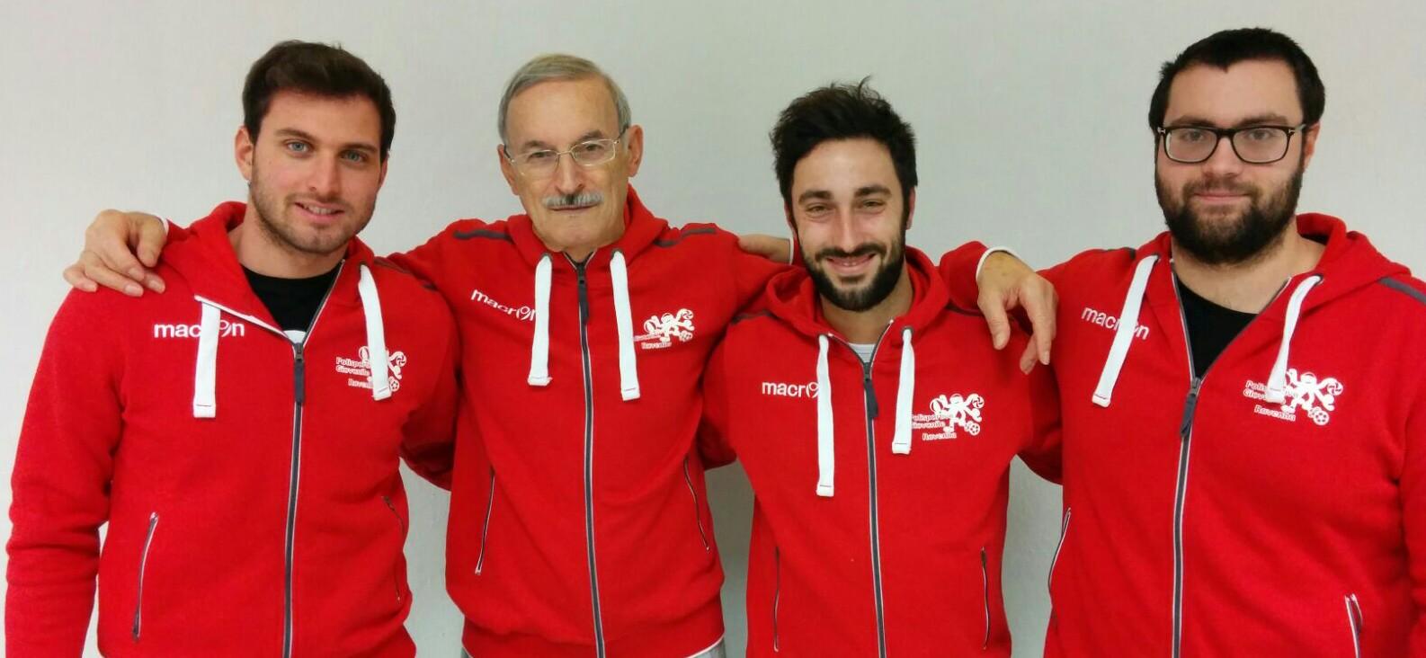 Da sinistra: Francesco Rametta (volley), Massimo Bianchini (basket, Claudio Capucci (calcio). Marco Camerani (dodgeball).